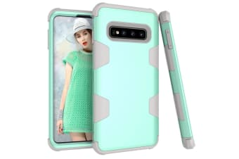 For Samsung Galaxy S10 Case  Mint Green Armour TPU & PC Grip Back Cover