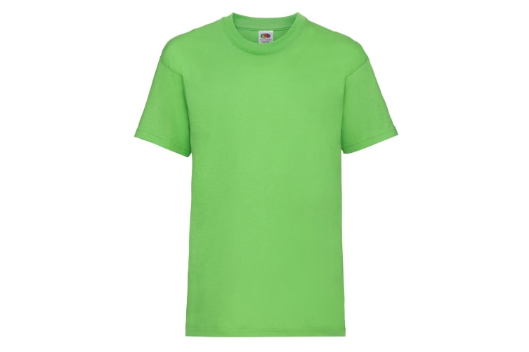 Fruit Of The Loom Childrens/Kids Unisex Valueweight Short Sleeve T-Shirt (Pack of 2) (Lime) (3-4)