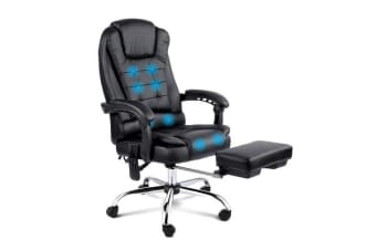 8 Point Reclining Message Chair (Black)