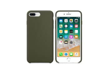 Silicone Gel Rubber Shockproof Protective Case Cover For Iphone Dark Olive Iphone X/Xs