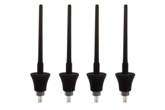 4PK Hercules Velvet Piccolo Peg for Musical Instrument Stand/Holder Black