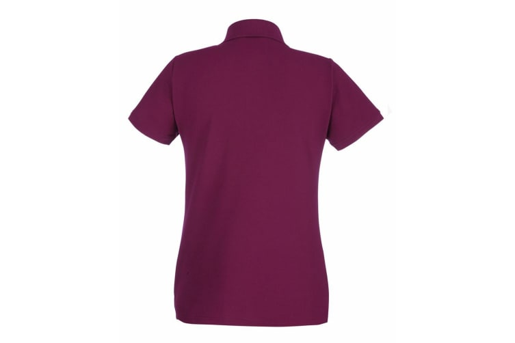 Fruit Of The Loom Ladies Lady-Fit Premium Short Sleeve Polo Shirt (Burgundy) (M)