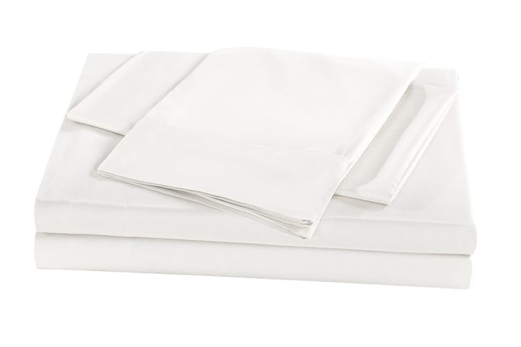 Royal Comfort 100% Natural Bamboo Bed Sheet Set (Double, White)