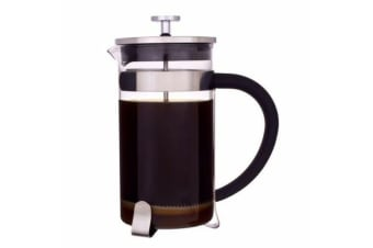 3 Cup French Coffee Press Glass Tea Coffee Maker Plunger Filter 350ml w/ Scoop