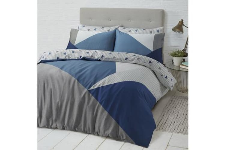Style & Co 100 % Cotton Reversible Quilt Cover Set King Spliced