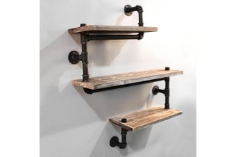 84CM Rustic Industrial DIY Floating Snake Pipe Shelf