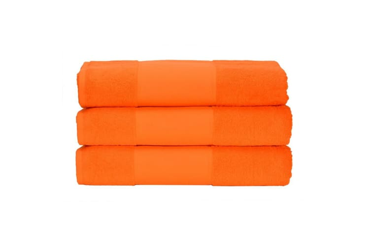 A&R Towels Print-Me Hand Towel (Bright Orange) (One Size)