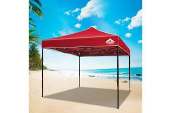 Pop Up Gazebo 3x3 Outdoor Tent Folding Wedding Marquee Gazebos Red