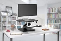 Kogan Sit to Stand Desk Riser - KADSKSTMINWB & KADSKSTMINB