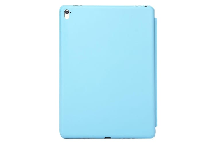 For iPad Pro 11 Inch (2018) Case Solid Color PU Leather Folio Cover Blue