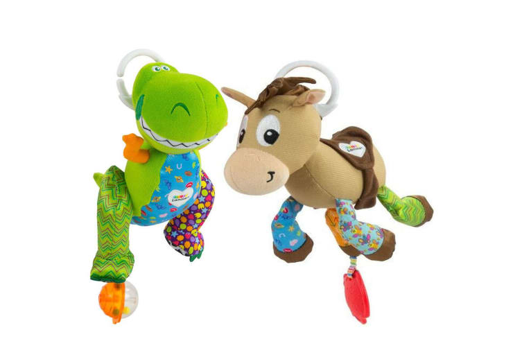 2PK Lamaze Toy Story Clip & Go Baby/Infant Activity Teether Toy 0m+ Bullseye/Rex