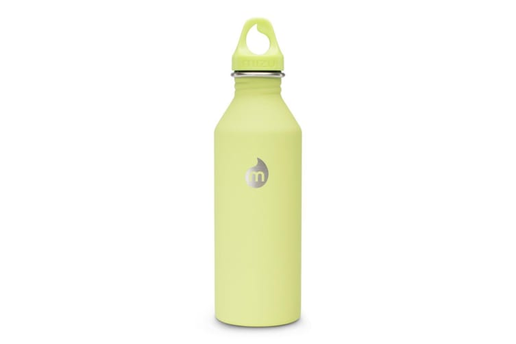 Mizu M8 Soft Touch Hydration Bottle 27oz (800ml) with Loop Cap - Lime