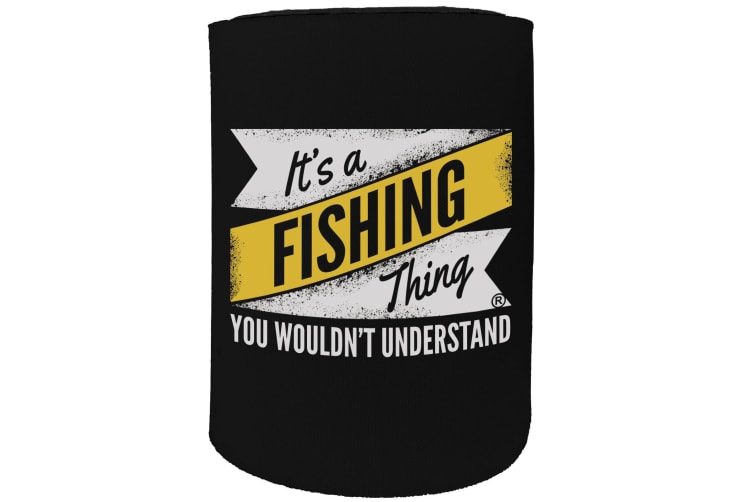 123t Stubby Holder - DW fishing thing FISHING - Funny Novelty