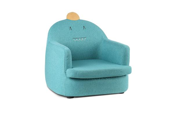 Artiss Kids Armchair Fabric Sofa Couch Children Room Seat Lounge Dinosaur Green