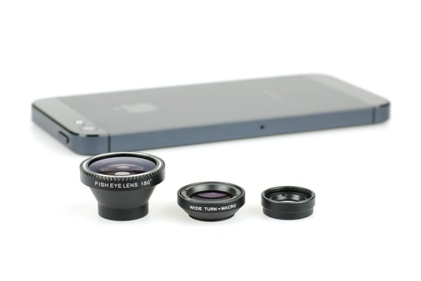 Smartphone Lens Kit (Macro, Fish Eye, Wide Angle)