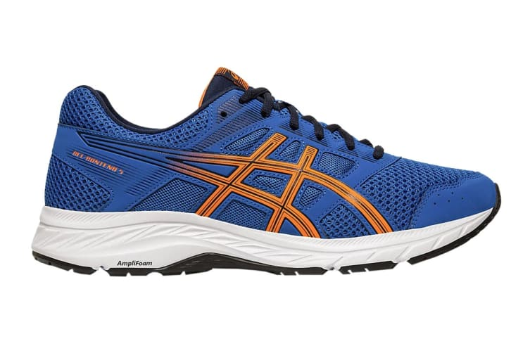 ASICS Men's Gel-Contend 5 Running Shoe (Lake Drive/Shocking Orange, Size 12 US)