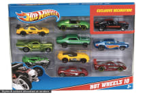 Hot Wheels 10 Pack Cars (Variable Colours)