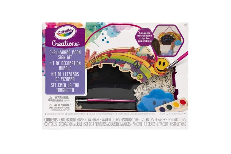 Crayola Creations Chalkboard Room Sign Kit