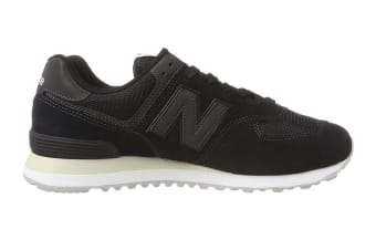 New Balance Men's 574 Shoe (Black, Size 8.5)