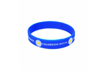Leicester City FC Official Champions Wristband (Blue) (One Size)