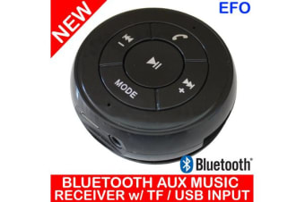 Handsfree Bluetooth Car Kit Aux Music Receiver + Tf Card / Usb Input Pt-750 Blk