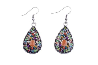 Sterling Silver Handmade Bohemian Teardrop Dangle Earrings P000133