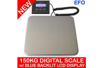 150Kg (330Lb) Digital Postal Scale W/ Blue Backlit Lcd Display 50G Graduation
