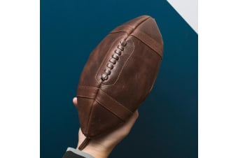 Mens Luxe Leather Football Washbag