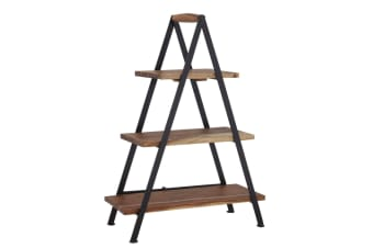 Fine Foods 3 Tier Acacia And Iron Serving Stand