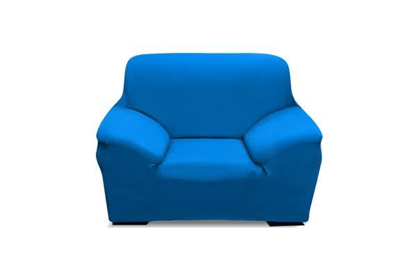 Easy Fit Stretch 1 Seater Couch Sofa Slipcover Protector Cover BLUE