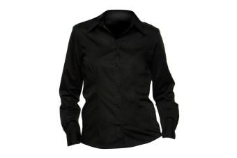 Bargear® Ladies Long Sleeved Bar Shirt (Black)