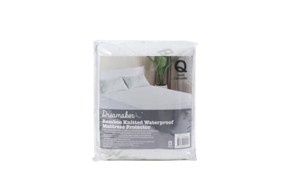Bamboo knitted waterproof   mattress protector SKB