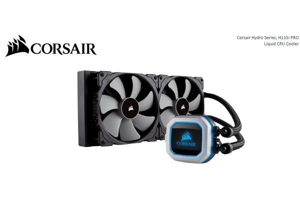 Corsair H115i PRO RGB 280mm Radiator.  2x 140mm ML Fan Support Corsair LINK. SOCKET TR4 READY.