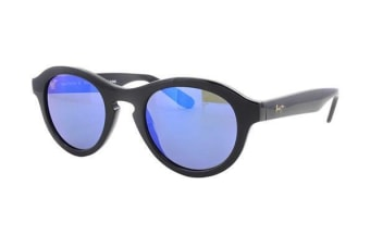 Maui Jim Blue Hawaii Leia B708-02 Gloss Black Womens Sunglasses