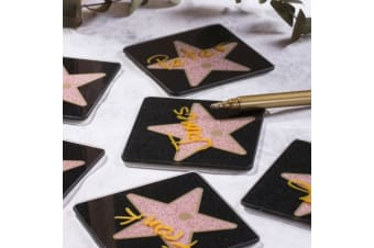 Hollywood Stars Customisable Glass Place Settings Coasters