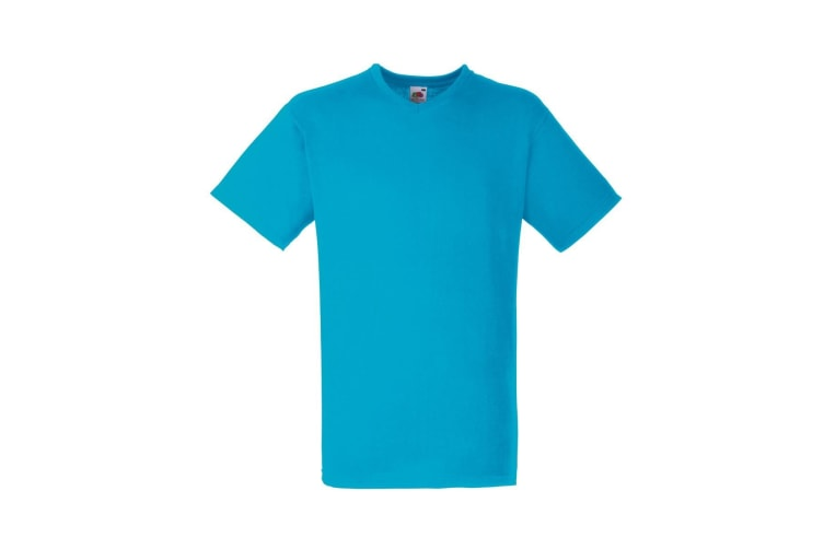 Fruit Of The Loom Mens Valueweight V-Neck  Short Sleeve T-Shirt (Azure Blue) (L)