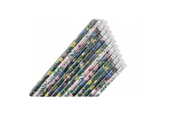 Painted & Pressed Pencil Set (Pack Of 12) (Multicoloured)