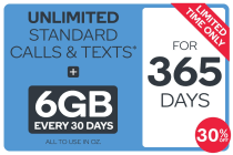 Kogan Mobile Prepaid Voucher Code: MEDIUM (365 Days | 6GB Per 30 Days)