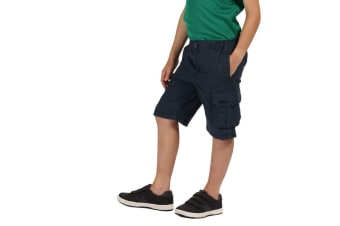 Regatta Kids Shorewalk Multi Pocket Shorts (Navy) (11-12 Years)