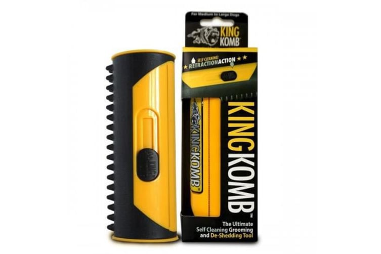 Pet Trade Innovations King Komb Dog/Cat Grooming Tool (Yellow) (Large)