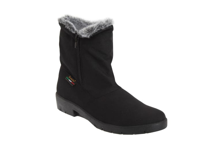 Mod Comfys Womens/Ladies Side Zip Warmlined Thermal Winter Boots (Black) (3 UK)