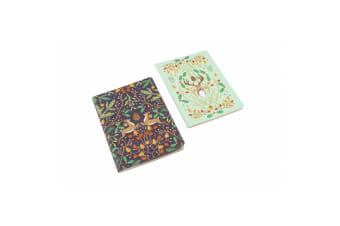 Seasons Greetings Stag Notebooks (Pack Of 2) (Multicolour) (A6)