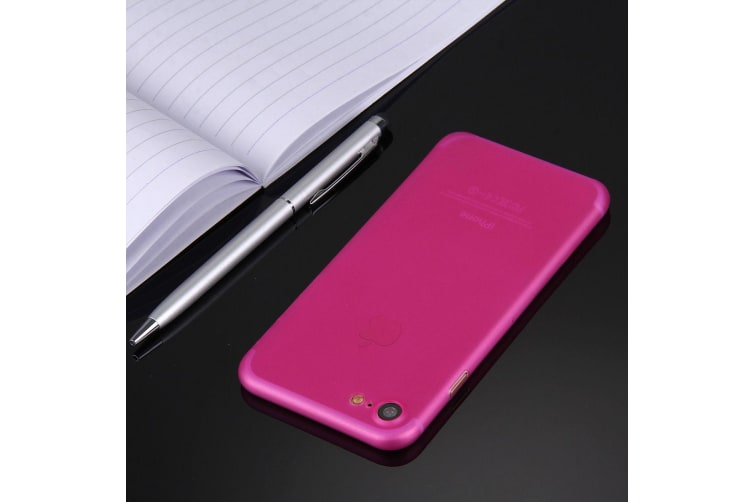 For iPhone 8 7 Case Stylish Ultra-thin Translucent Protective Cover Magenta