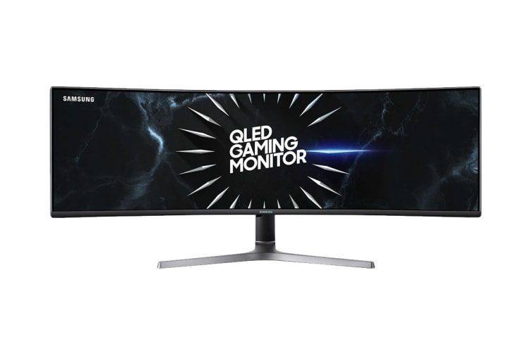 """Samsung 49"""" 32:9 5120x1440 Dual QHD 120Hz QLED Ultra Wide Curved Gaming Monitor (LC49RG90SSEXXY)"""