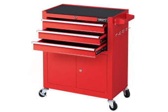 Giantz Tool Box Chest Trolley Cart Kit Cabinet Drawers Garage Toolbox Set Red