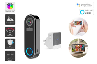 Kogan SmarterHome™ Full HD Slim Wireless Smart Video Doorbell with Chime