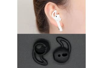 For Apple Airpods Black Silicone Ear Caps with Precise Opening