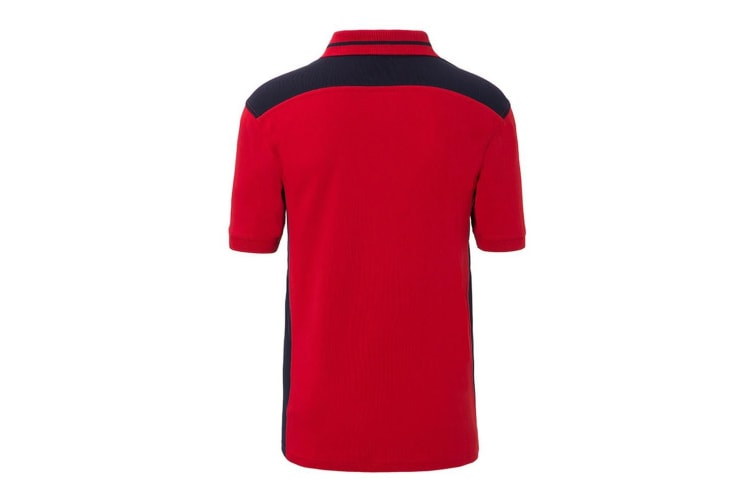 James and Nicholson Mens Workwear Level 2 Polo (Red/Navy) (XXL)