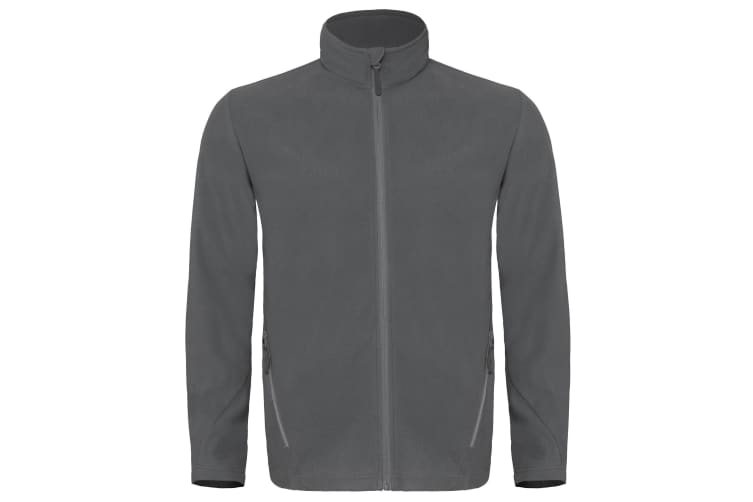 B&C Mens Coolstar Ultra Light Full Zip Fleece Top (Steel Grey) (2XL)