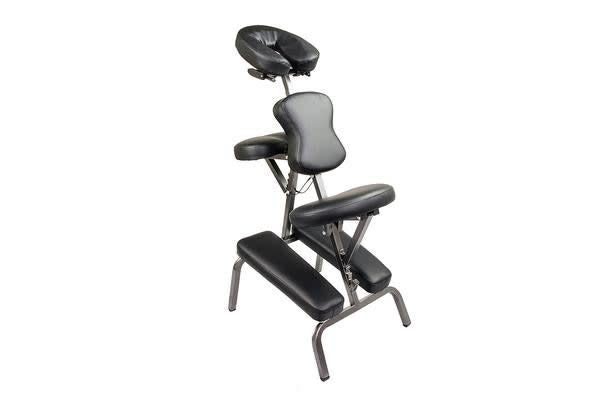 Aluminium Portable Massage Chair - BLACK